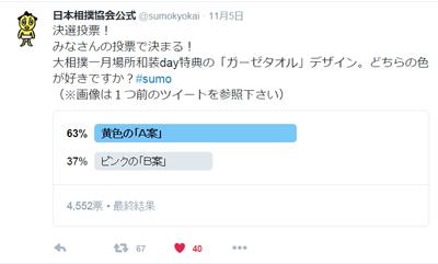 大相撲ガーゼタオル決戦投票