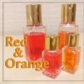 レッド&オレンジのメッセージ