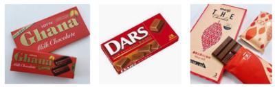 チョコレート赤いパッケージの写真